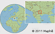 Savanna Style Location Map of Vinica