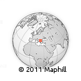 Outline Map of Vinica