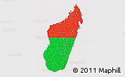 Flag 3D Map of Madagascar, flag centered