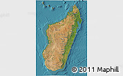 Satellite 3D Map of Madagascar