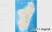 Shaded Relief 3D Map of Madagascar, satellite outside, shaded relief sea