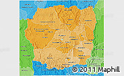 Political Shades 3D Map of Antananarivo