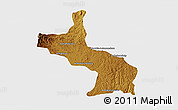 Physical 3D Map of Ambatolampy, single color outside