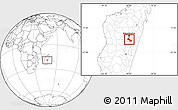 Blank Location Map of Ambatolampy