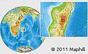 Physical Location Map of Ambatolampy