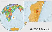 Political Location Map of Ambatolampy