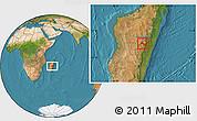 Satellite Location Map of Ambatolampy