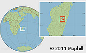 Savanna Style Location Map of Ambatolampy