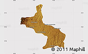 Physical Map of Ambatolampy, cropped outside