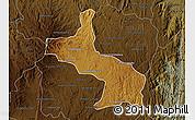 Physical Map of Ambatolampy, darken