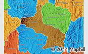 Physical Map of Ambatolampy, political outside