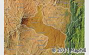 Physical Map of Ambatolampy, satellite outside