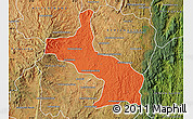 Political Map of Ambatolampy, satellite outside