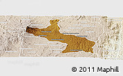 Physical Panoramic Map of Ambatolampy, lighten