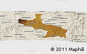 Physical Panoramic Map of Ambatolampy, shaded relief outside