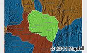 Political Map of Andramasina, darken