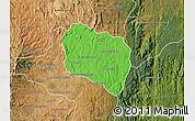 Political Map of Andramasina, satellite outside