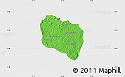 Political Map of Andramasina, single color outside