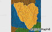 Political Map of Ankazobe, darken