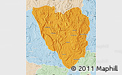 Political Map of Ankazobe, lighten