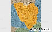 Political Map of Ankazobe, semi-desaturated