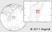 Blank Location Map of Antananarivo-Nord