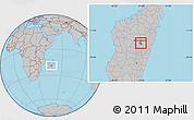 Gray Location Map of Antananarivo-Nord
