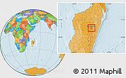 Political Location Map of Antananarivo-Nord