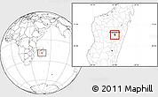 Blank Location Map of Antananarivo-Sud