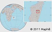 Gray Location Map of Antananarivo-Sud