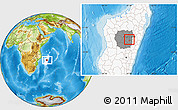 Physical Location Map of Antananarivo-Sud, highlighted country, highlighted parent region