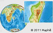 Physical Location Map of Antananarivo-Sud