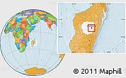 Political Location Map of Antananarivo-Sud, highlighted parent region
