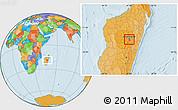Political Location Map of Antananarivo-Sud