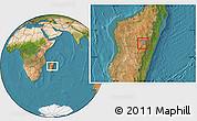 Satellite Location Map of Antananarivo-Sud