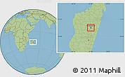 Savanna Style Location Map of Antananarivo-Sud