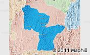 Political Map of Antanifotsy, lighten