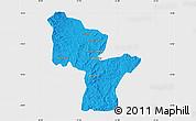 Political Map of Antanifotsy, single color outside