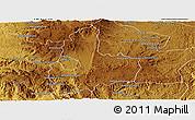 Physical Panoramic Map of Antsirabe Rural