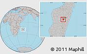 Gray Location Map of Arivonimamo