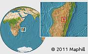 Satellite Location Map of Arivonimamo
