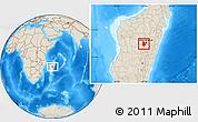 Shaded Relief Location Map of Arivonimamo