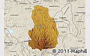 Physical Map of Arivonimamo, shaded relief outside