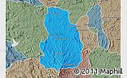 Political Map of Arivonimamo, semi-desaturated