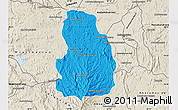 Political Map of Arivonimamo, shaded relief outside