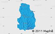 Political Map of Arivonimamo, single color outside