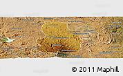 Physical Panoramic Map of Arivonimamo, satellite outside