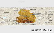 Physical Panoramic Map of Arivonimamo, shaded relief outside