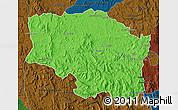 Political Map of Betafo, darken