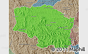 Political Map of Betafo, semi-desaturated